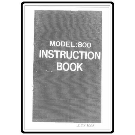 Instruction Manual, Riccar 800R