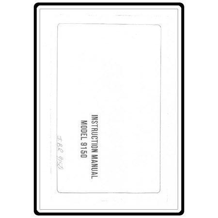 Instruction Manual, Riccar 9150