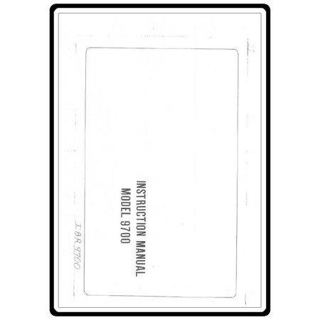 Instruction Manual, Riccar 9700