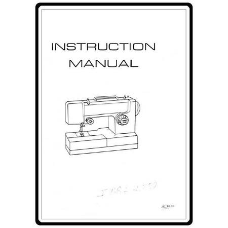 Instruction Manual, Riccar BL2000