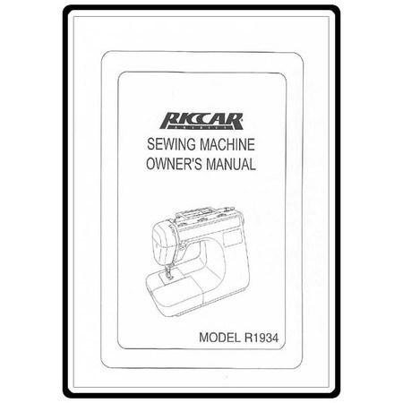 Instruction Manual, Riccar R1934