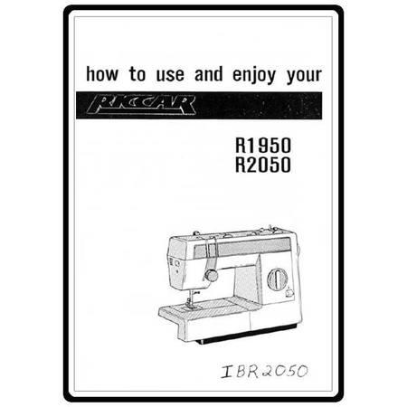 Instruction Manual, Riccar R2050