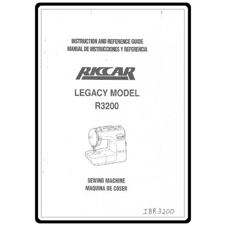 Instruction Manual, Riccar 3200