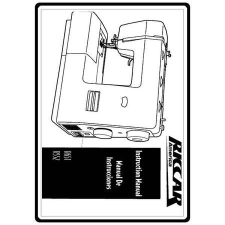 Instruction Manual, Riccar R552