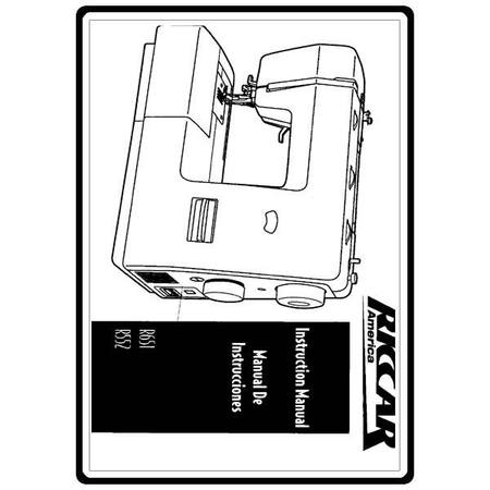 Instruction Manual, Riccar R651