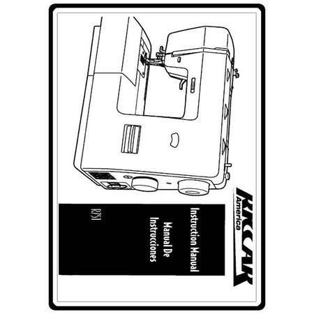 Instruction Manual, Riccar R751