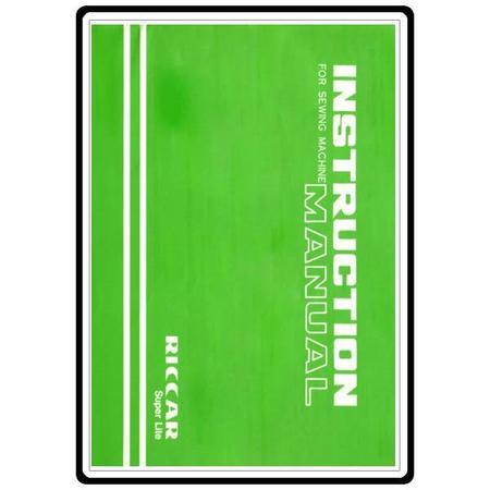 Instruction Manual, Riccar R918