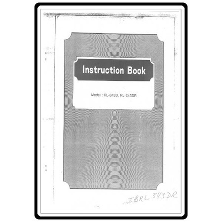 Instruction Manual, Riccar RL343DR