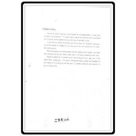 Instruction Manual, Riccar RZ204B