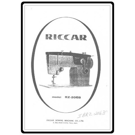Instruction Manual, Riccar RZ206B