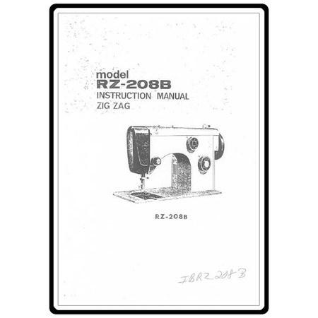 Instruction Manual, Riccar RZ208B
