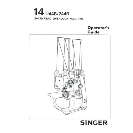 Instruction Manual, Singer 14U244B