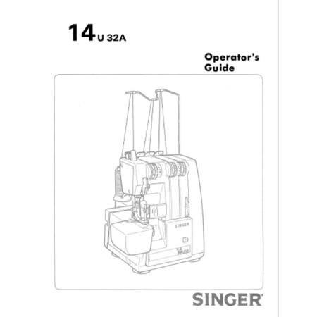 Instruction Manual, Singer 14U32