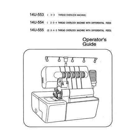 Instruction Manual, Singer 14U555