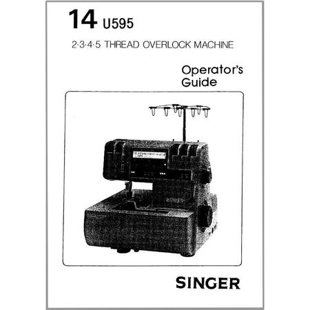 Instruction Manual, Singer 14U595