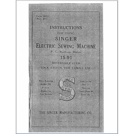 Instruction Manual, Singer 15-88