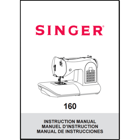 instruction manual singer 160 sewing parts online rh sewingpartsonline com Singer ManualsOnline Singer 258 Sewing Machine Instruction Manual