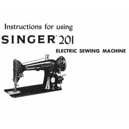 Instruction Manual, Singer 201