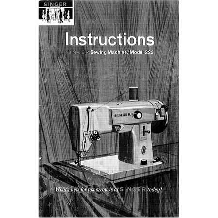 Instruction Manual, Singer 223