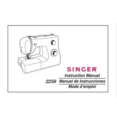 Instruction Manual, Singer 2259
