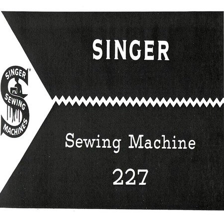 Instruction Manual, Singer 227