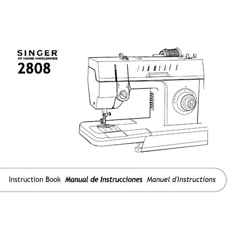 Instruction Manual, Singer 2808