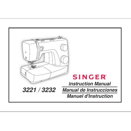 Instruction Manual, Singer 3232