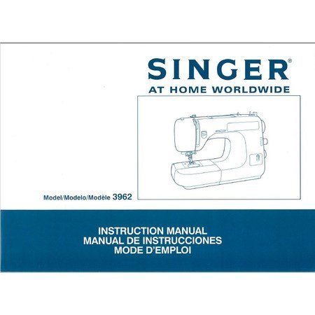 Instruction Manual, Singer 3962