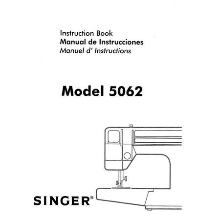 Instruction Manual, Singer 5062
