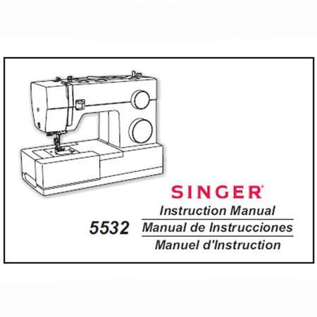 Instruction Manual, Singer 5532