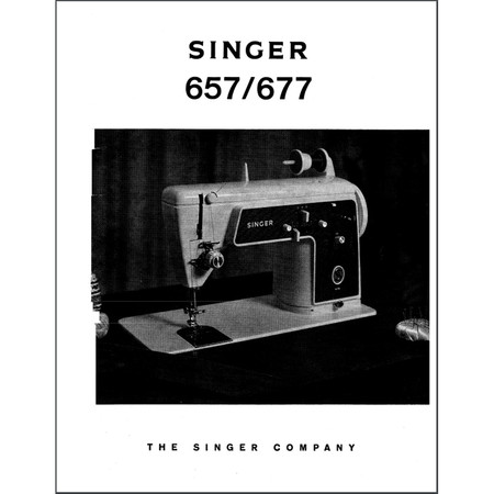 Instruction Manual, Singer 657