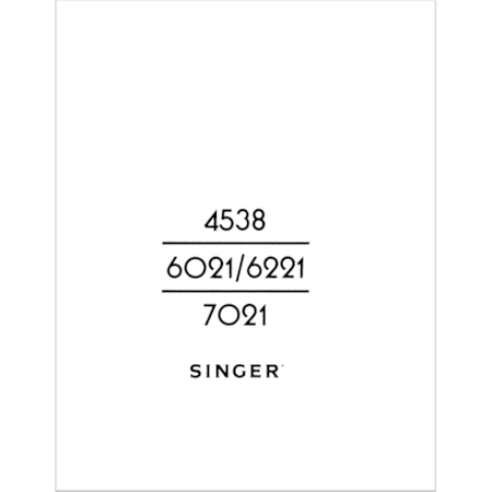 Instruction Manual, Singer 7021