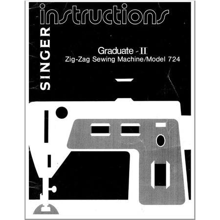 Instruction Manual, Singer 724