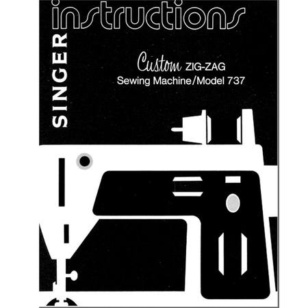 Instruction Manual, Singer 737E3