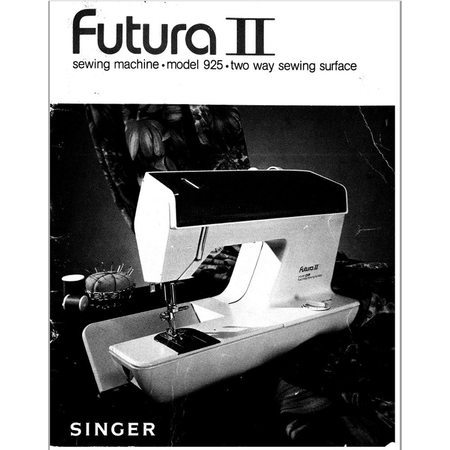 Instruction Manual, Singer 925 Futura II