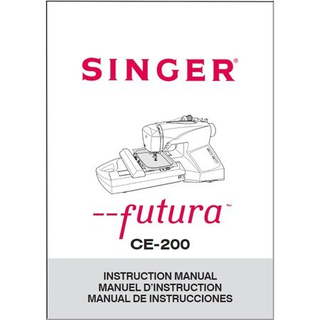Instruction Manual, Singer CE-200