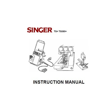 Instruction Manual, Singer TS380A (Tiny Serge)