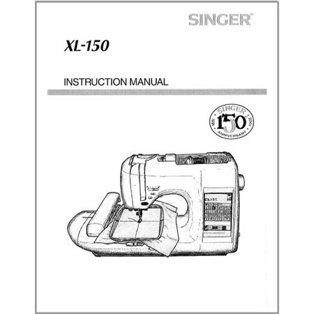 Instruction Manual, Singer XL150