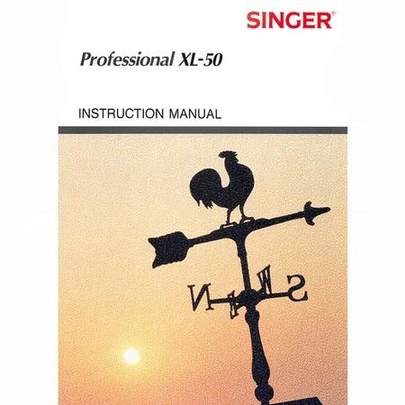 Instruction Manual, Singer XL50