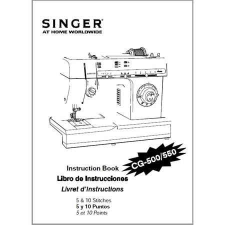 Instruction Manual, Singer CG-500