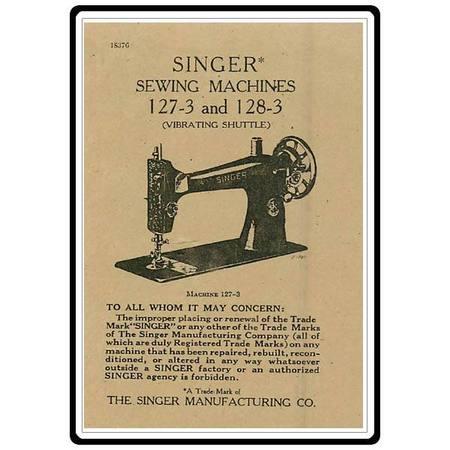 Instruction Manual, Singer 127-3