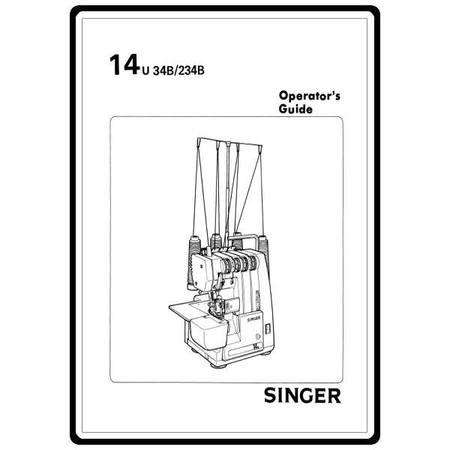 Instruction Manual, Singer 14U34B