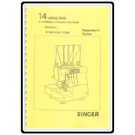 Instruction Manual, Singer 14U444