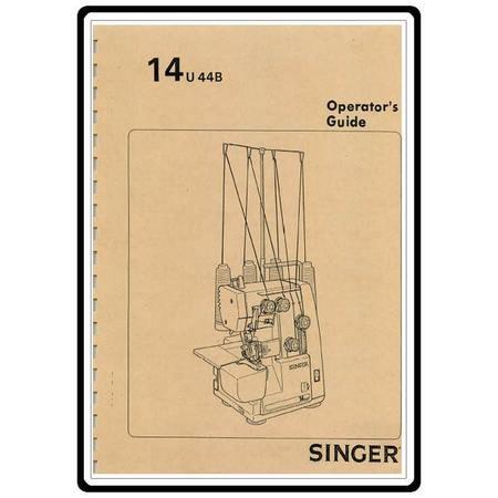 Instruction Manual, Singer 14U44