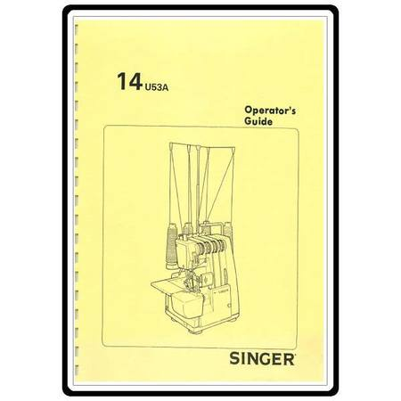 Instruction Manual, Singer 14U53A