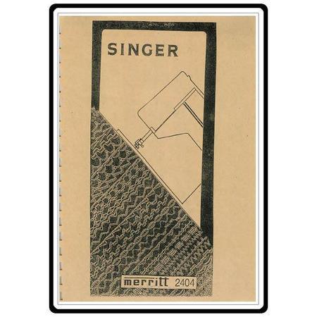 Instruction Manual, Singer 2404