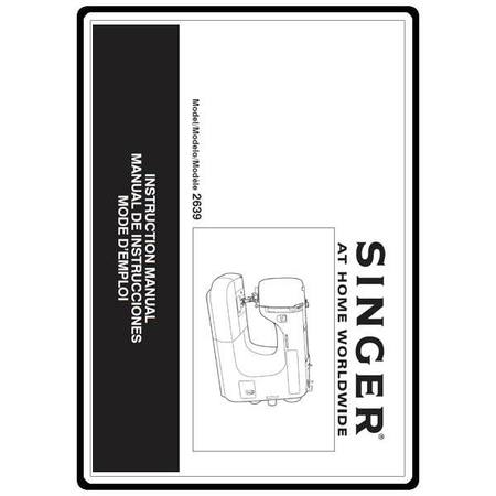Instruction Manual, Singer 2639