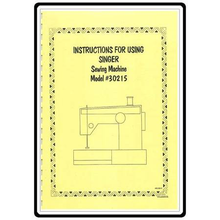 Instruction Manual, Singer 30215