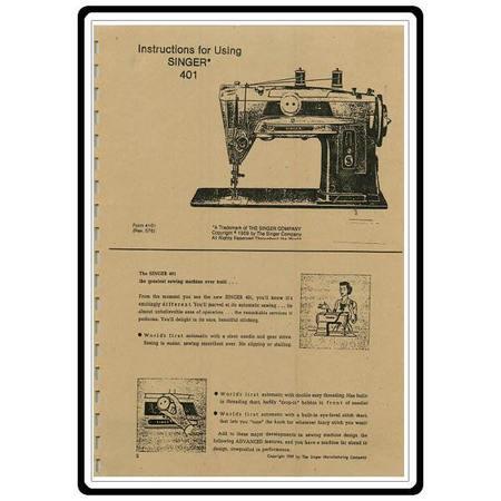Instruction Manual, Singer 401