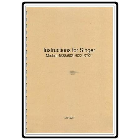 Instruction Manual, Singer 4538